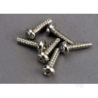Screws, 3x10mm roundhead self-tapping (6 pcs)