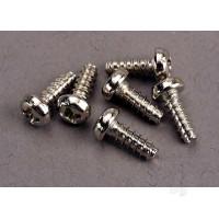 Screws, 3x8mm roundhead self-tapping (6pcs)