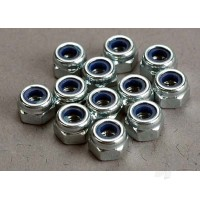 Nuts, 3mm nylon locking (12pcs)