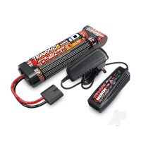 Completer Pack with 1x 2A AC NiMH Charger & 1x NiMH 8.4V 3000mAh Flat iD Battery