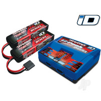 Battery / charger completer pack (includes #2972 Dual iD charger (1pc), #2872X 5000mAh 11.1V 3-cell 25C LiPo battery (2pcs))