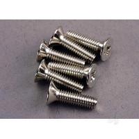Screws, 4x15mm countersunk machine (6pcs)