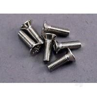 Screws, 3x10mm countersunk machine (6pcs)
