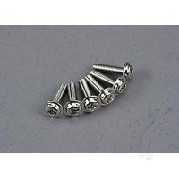 Screws, 3x12mm washerhead machine (6 pcs)
