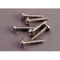 Screws, 3x15mm washerhead self-tapping (6 pcs)