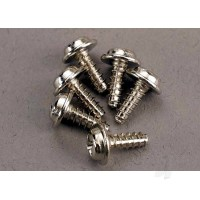 Screws, 3x8mm washerhead self-tapping (6 pcs)