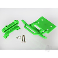 Bumper, front / bumper mount, front / 4x23mm RM (2pcs) / 3x10mm RST (2pcs) (green)