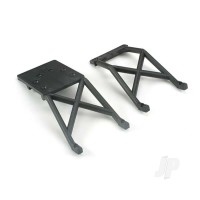 Skid plates, Front & Rear (black)