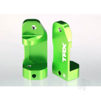 Caster blocks, 30-degree, Green-anodized 6061-T6 aluminium (left & right) / suspension screw pin (2 pcs)