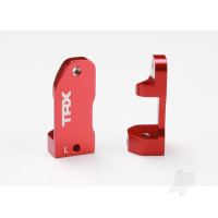 Caster blocks, 30-degree, Red-anodized 6061-T6 aluminium (left & right) / suspension screw pin (2 pcs)