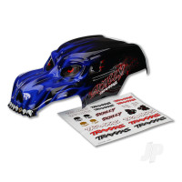 Body, Skully, blue, heavy duty / decals