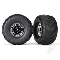 Tyres and Wheels, Assembled Glued Terra Groove Dual Profile (Nitro Rear / Electric Front) (2 pcs)