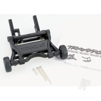 Wheelie bar, assembled (black) (fits Slash, Bandit, Rustler, Stampede series)