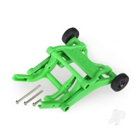 Wheelie bar, assembled (green) (fits Slash, Bandit, Rustler, Stampede series)