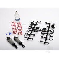 Ultra shocks (grey) (Long) (complete with spring pre-load spacers & springs) (2 pcs)