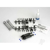 Ultra shocks (black) (XX-Long) (complete with spring pre-load spacers & springs) (rear) (2pcs)