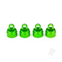 Shock caps, aluminium (Green-anodized) (4 pcs) (fits all Ultra shocks)