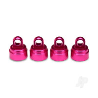 Shock caps, aluminium (pink-anodized) (4 pcs) (fits all Ultra shocks)