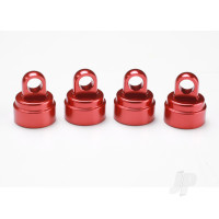 Shock caps, aluminium (Red-anodized) (4 pcs) (fits all Ultra shocks)