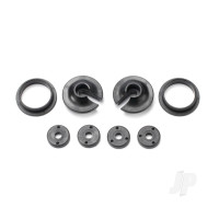 Spring retainers, upper & lower (2 pcs) / piston head Set (2-hole (2 pcs) / 3-hole (2 pcs))