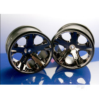 Wheels, All-Star 2.8in (black chrome) (2WD electric rear)