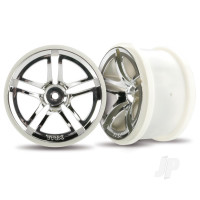 Wheels, Twin-Spoke 2.8in (chrome) (2WD electric rear) (2pcs)