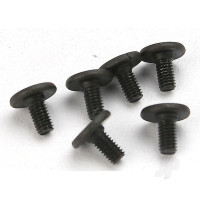 Screws, 3x6mm flat-head machine (hex drive) (6pcs)