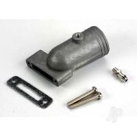 Exhaust header / header gasket / pressure fitting / fitting gasket / header screws (2pcs)