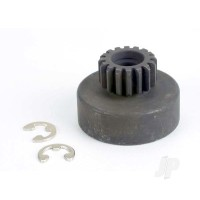 Clutch bell, (16-tooth) / 5x8x0.5mm fiber washer (2pcs) / 5mm E-clip (requires #2728 - ball bearings, 5x8x2.5mm (2pcs)