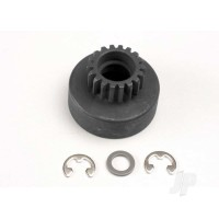Clutch bell, (18-tooth) / 5x8x0.5mm fiber washer (2pcs) / 5mm E-clip (requires #4609 - ball bearings, 5x10x4mm (2pcs))