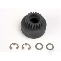 Clutch bell, (20-tooth) / 5x8x0.5mm fiber washer (2pcs) / 5mm E-clip (requires #4611-ball bearings, 5x11x4mm (2pcs)