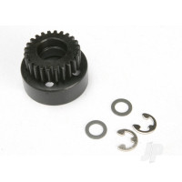 Clutch bell, (24-tooth) / 5x8x0.5mm fiber washer (2pcs) / 5mm E-clip (requires #4611-ball bearings, 5x11x4mm (2pcs))