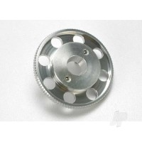 Flywheel, (larger, knurled for use with starter boxes) (TRX 2.5 and TRX 2.5R) (silver anodized)