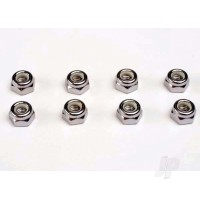 Nuts, 5mm nylon locking (8pcs)