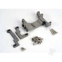 Engine mount, 2 piece, aluminium ( with screws) (N. Stampede)