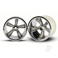 TRX Pro-Star chrome wheels (2pcs) (rear) (for 2.2in Tyres)
