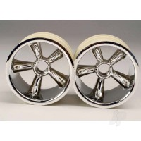 TRX Pro-Star chrome wheels (2pcs) (front) (for 2.2in Tyres)