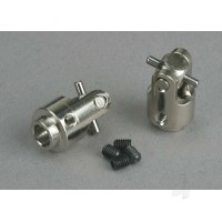 Differential output yokes, hardened Steel ( with U-joints) (2 pcs)