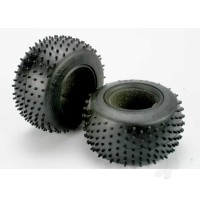 Tires, Pro-Trax spiked 2.2in (soft-compound) (rear) (2pcs) / foam inserts (2pcs)