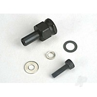 Adapter nut, clutch / 3x10mm cap scre with washer / split washer (not for use with IPS Crankshafts)