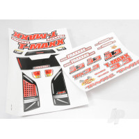 Decal sheets, T-Maxx 3.3 (Long wheelbase) (model 4908)