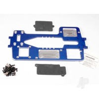 Chassis, 7075-T6 billet machined aluminium (4mm) (blue) / hardware