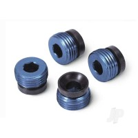 Aluminium caps, pivot ball (blue-anodized) (4pcs)