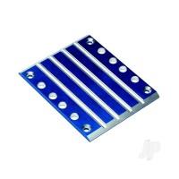 Skid plate, transmission, T6 aluminium (blue)