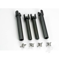 Half shafts, Long (heavy duty) (external-splined (2pcs) & internal-splined (2pcs)) / metal u-joints (4pcs)