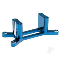 Engine mount, machined 6061-T6 aluminium (blue) ( with screws) (Maxx Series)