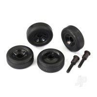 Wheels (4pcs) / axles (2pcs), for Maxx wheelie bar