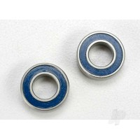 Ball bearings, Blue rubber sealed (6x12x4mm) (2 pcs)