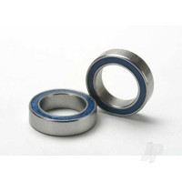 Ball bearings, Blue rubber sealed (10x15x4mm) (2 pcs)