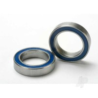 Ball bearings, blue rubber sealed (12x18x4mm) (2pcs)